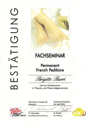 2005 - Fachseminar Pedicure; ?>